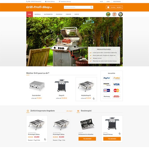 Online-Shop Design: New design for grill-profi-shop.de