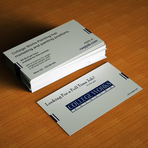Job Appliction Business Card
