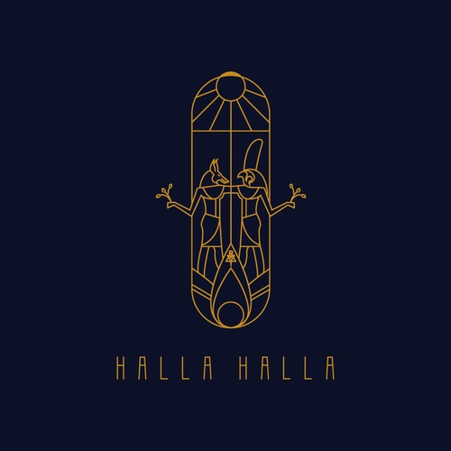 Logo design for Halla Halla eatery