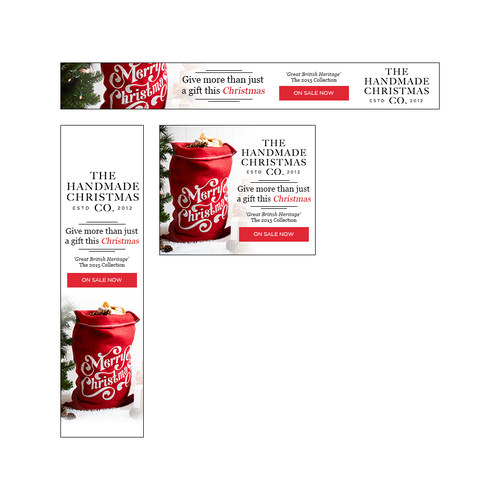 The Handmade Christmas Co. Banner Ad Set (Entry)