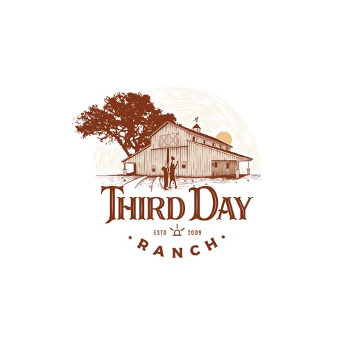 Vintage ranch logo concept