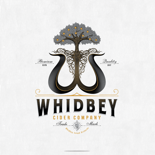 An antique charm to a modern logo for a new hard cider company