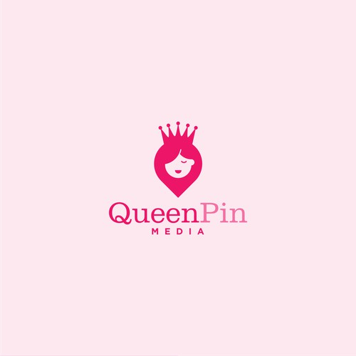 Simple logo concept for queenpin media