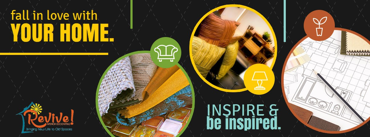 Create an energizing and stylish Facebook cover for a new interior decorating business!