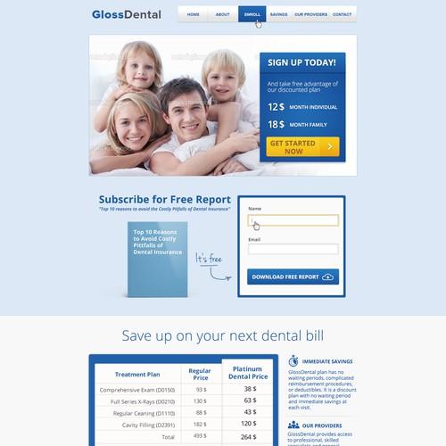 Create a Clean, Modern Website for Gloss Dental