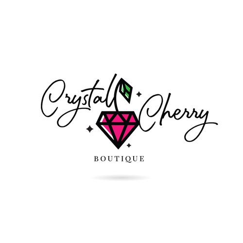 Logo design for Crystal Cherry Boutique