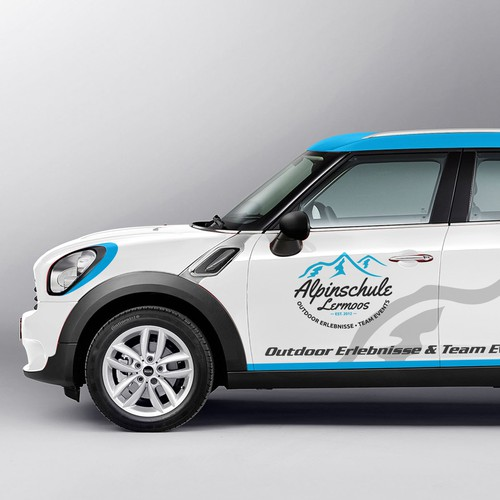 Rememberable and cool Car wrap design (partial) for Mini CooperCountryman