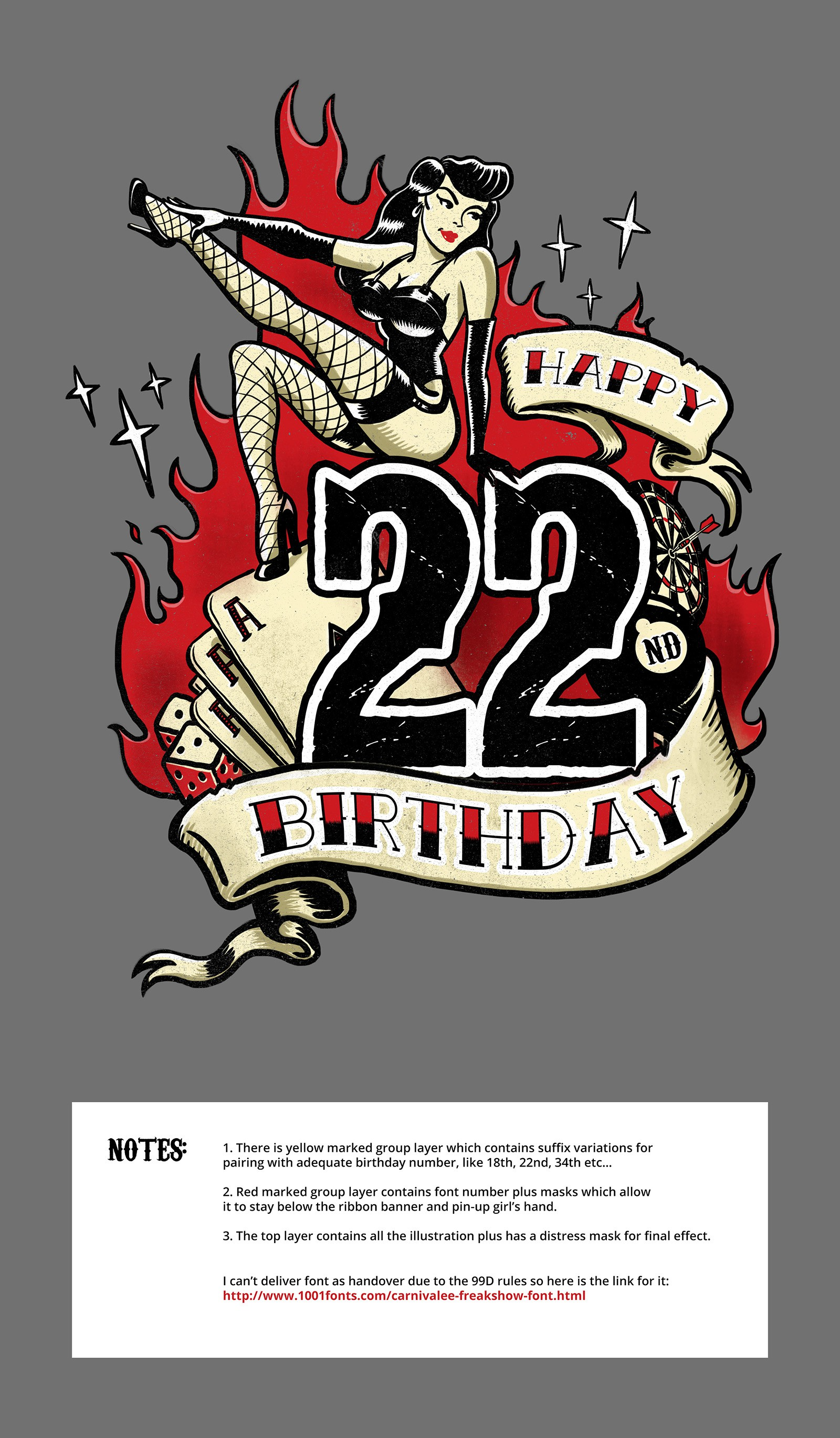 +++ Create a stunning T-Shirt Design for 18th. or 50th. Birtday +++