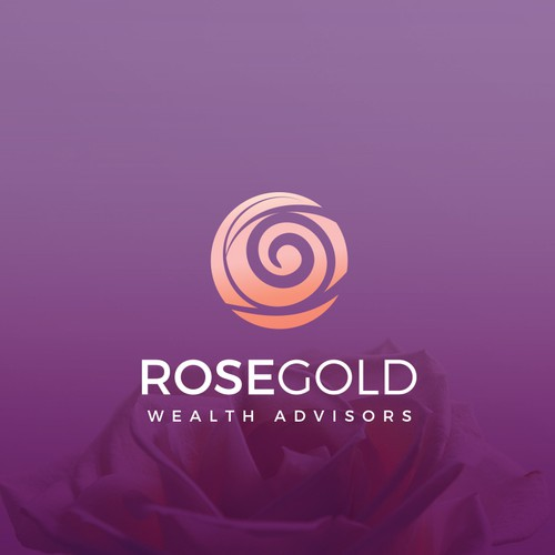 RoseGold Wealth Advisors Logo design