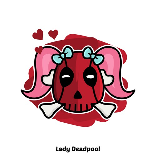 Lady Deadpool - Skull