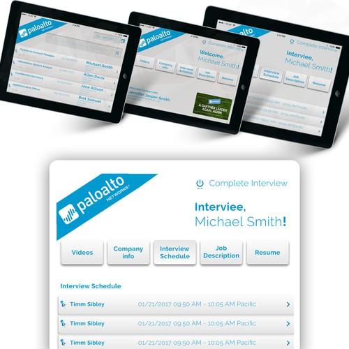 iPad UI design, Job Interview