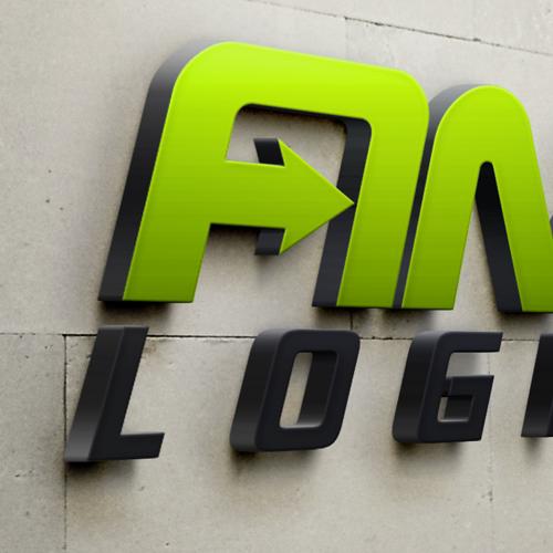Logistics logo concept