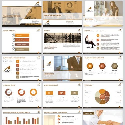 Powerpoint template for financial group