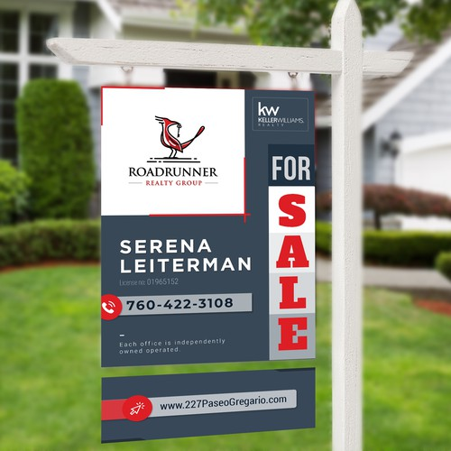 RoadRunner Real Estate Sign