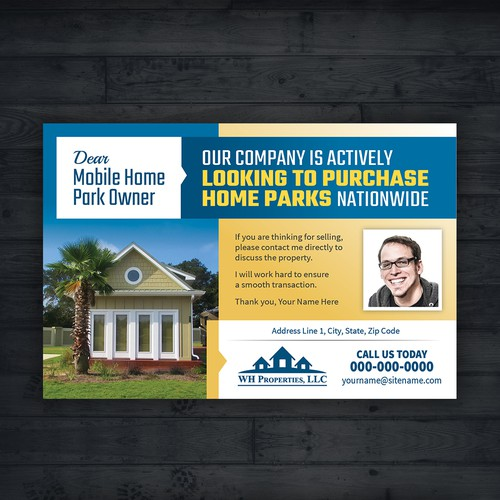 Post-card design for Real Estate Company