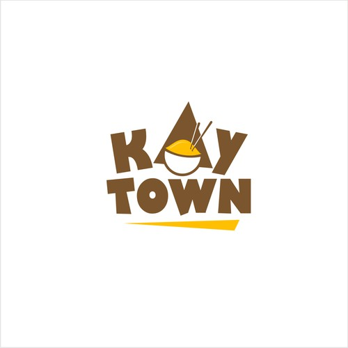 logo for Urban Korean food fight! current, modern, fun, light, interesting. Kay-Town is my company