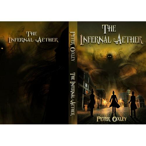 Book cover for a steampunk fantasy novel
