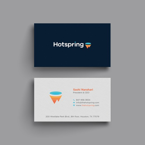 Elegant Business card for Hotspring