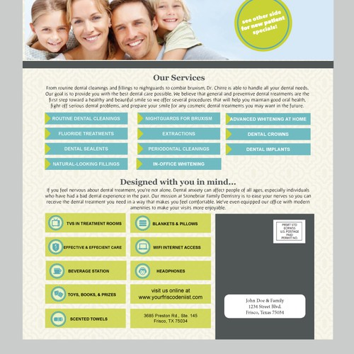 Modern Direct Mailer for Dentistry
