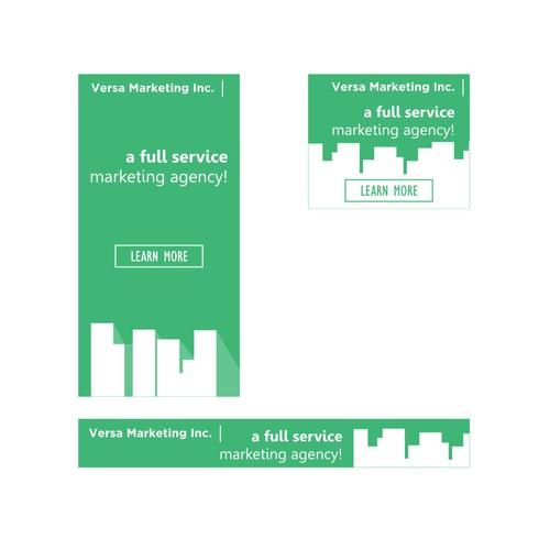 Modern banner ad for Versa Marketing