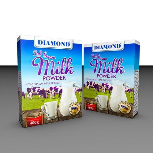Elegant package design for milk powder