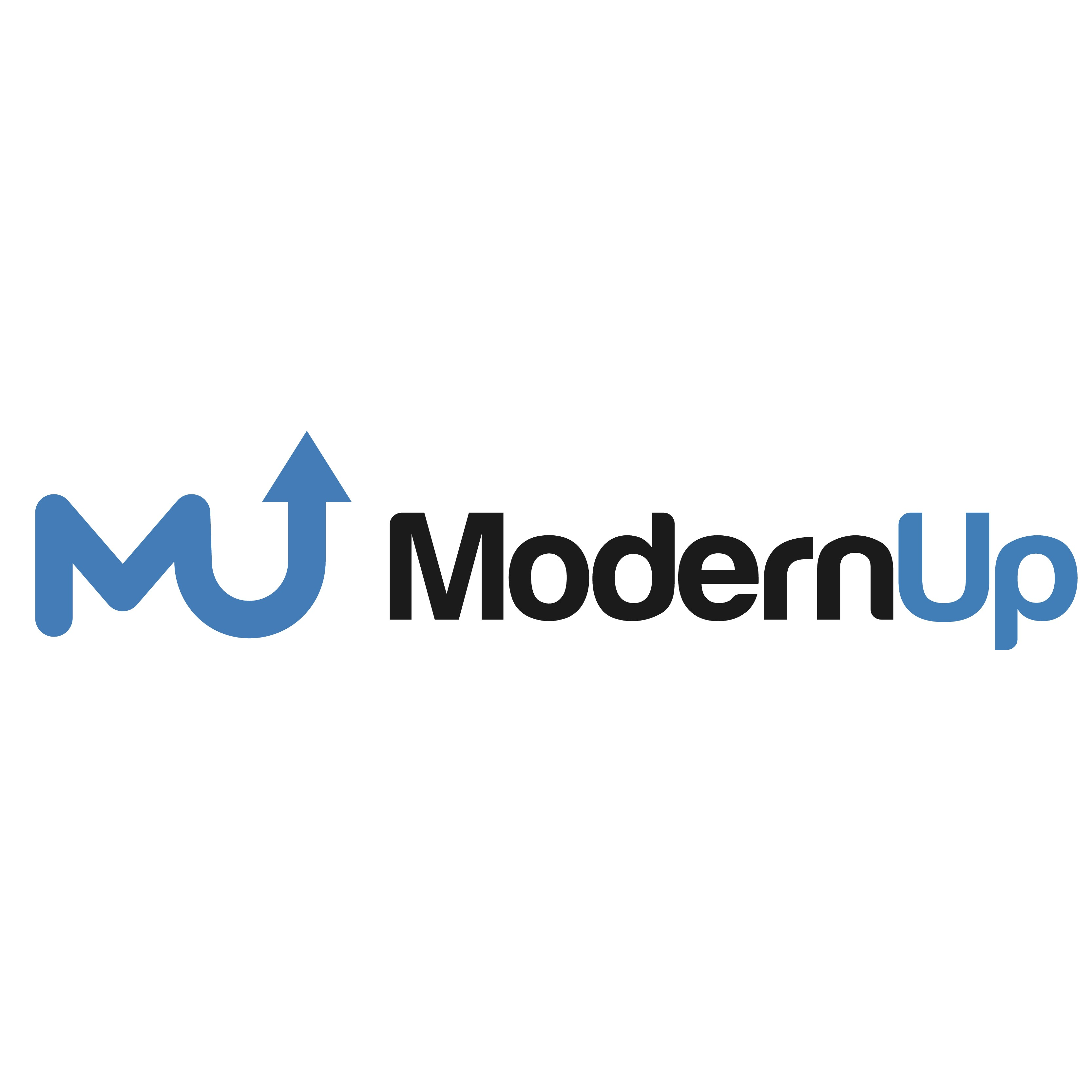 Logo design for technology and software company named ModernUp