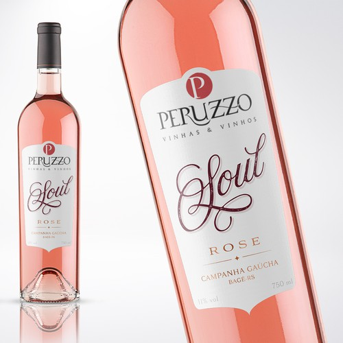 LABEL FOR THE BEST ROSE WINE FROM BRAZIL