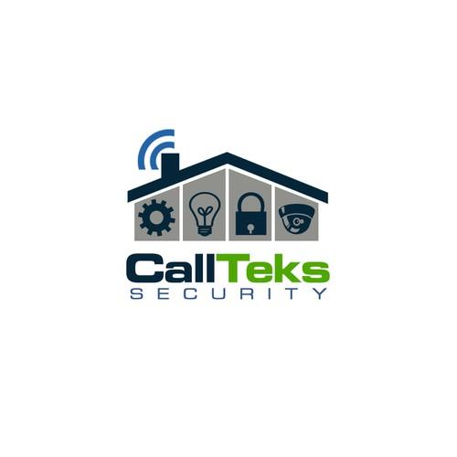 A KICK ASS Unique , Eye Catching, Modern logo brand for CallTeks Security
