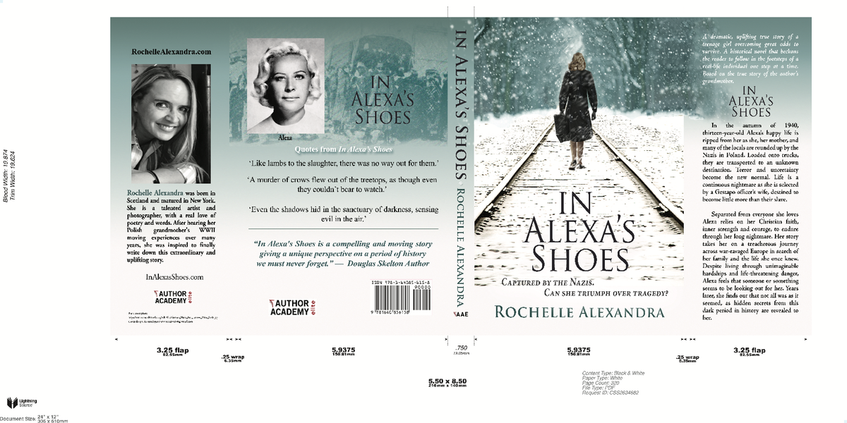 Hard Cover and other deliverables for - In Alexa's Shoes