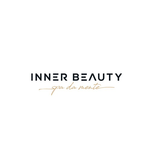 Elegant simple and clean modern logo to inner beauty