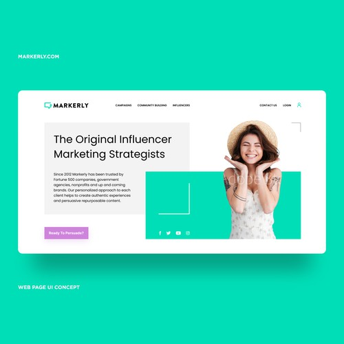 Influencer Marketing Company Site UI