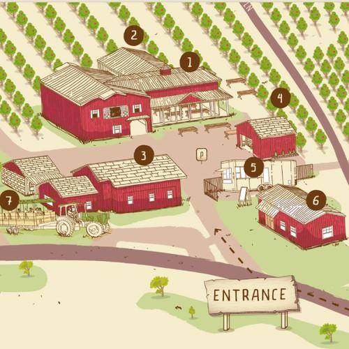 U-Pick Apple Orchard Map