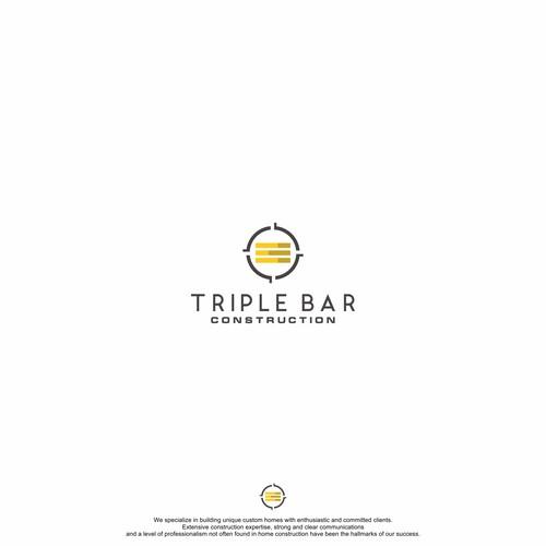 Logo concept for Triple Bar Construction