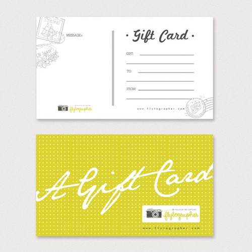Create Gift Card for Flytographer.com