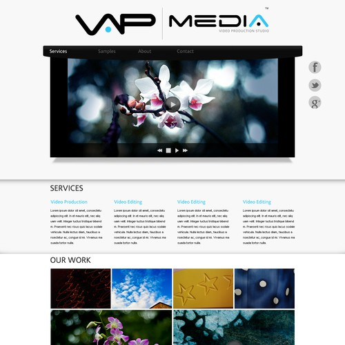 Page for a Media Company