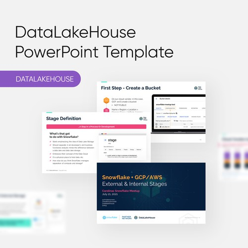 PowerPoint Template for DataLakeHouse