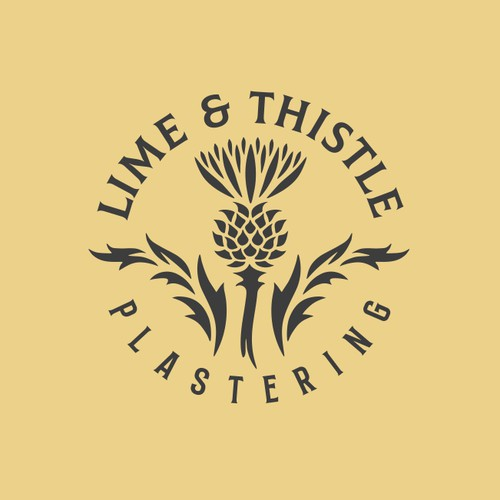 "Logo for ""lime & thistle plastering"""