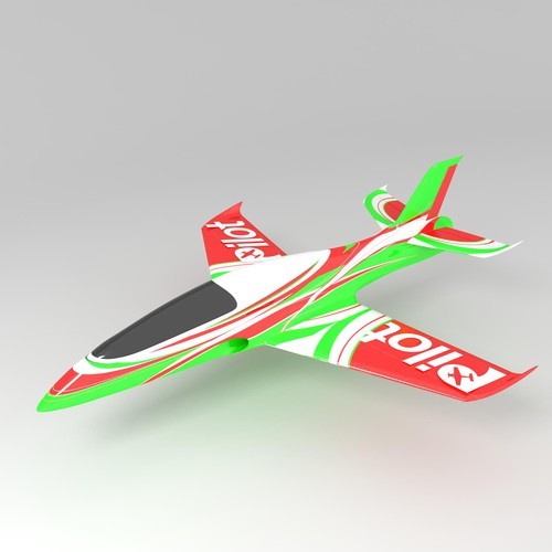 Model plane color scheme design