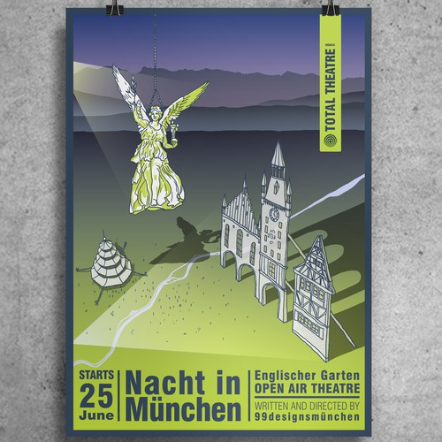 A poster for the city of Munich