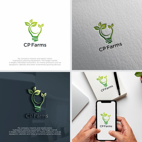 Logo for company supplying indoor hydroponic growing equipment to consumers online and in-store