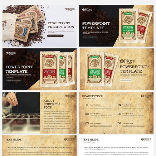 Powerpoint template for Endorfin Foods