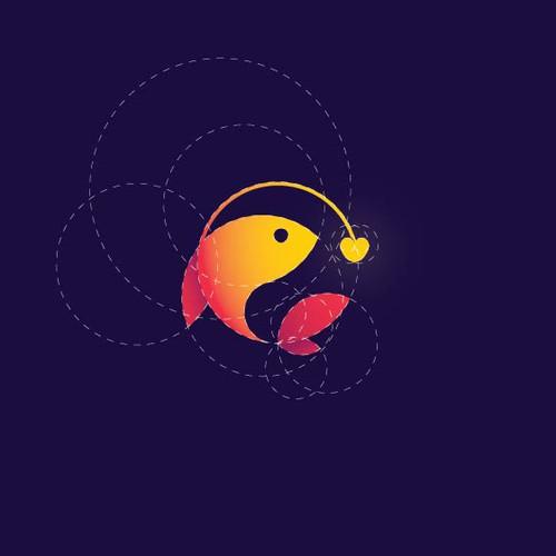 Golden Ratio Fish logo