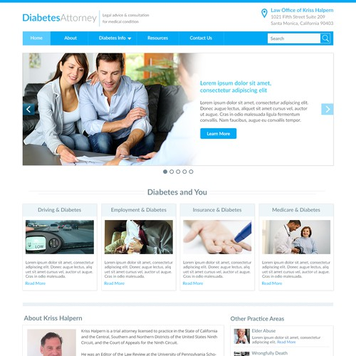 Non-salesy legal resource landing page