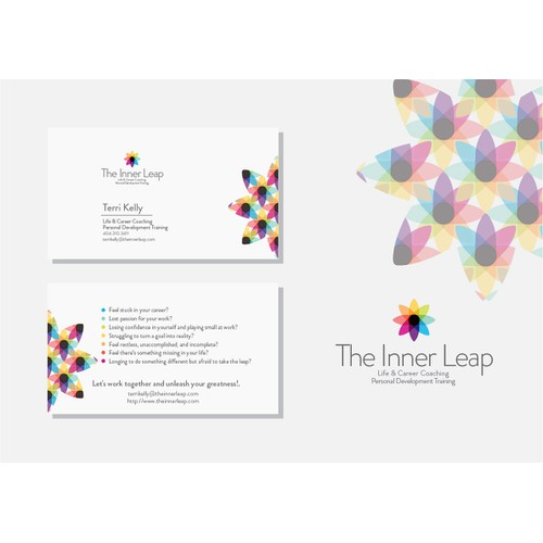 Bright and professional Business Card design for consulting company.