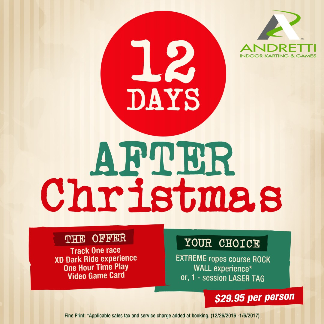 12 days after christmas social media/email graphic 1080x1080