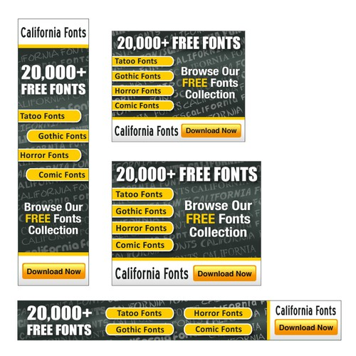 California Fonts needs Banner ads