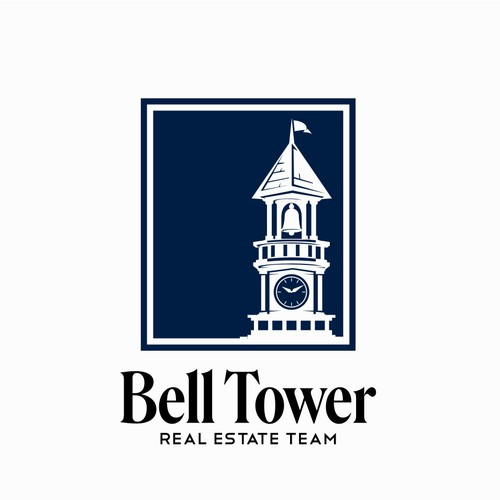 luxury logo design for bell tower real estate team.