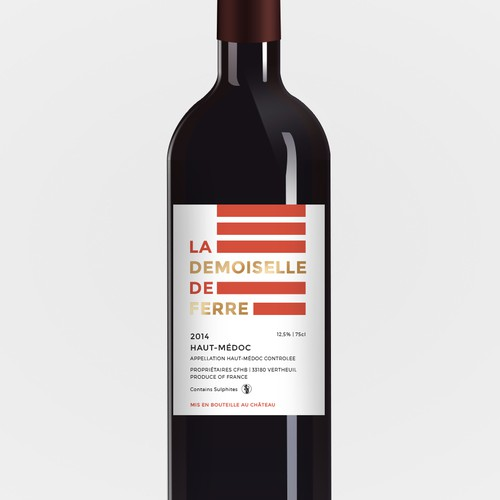 Wine-label for La Demoiselle de Ferre