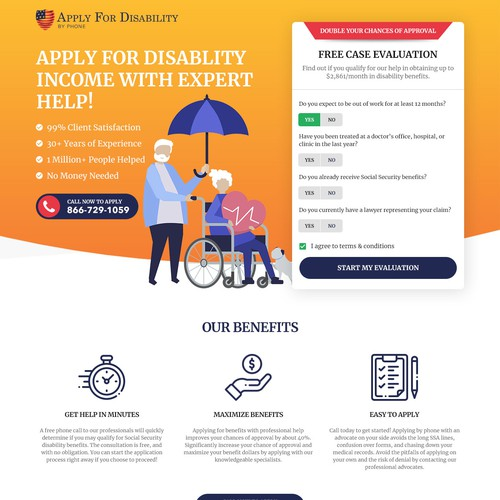 Disability Income Landing page