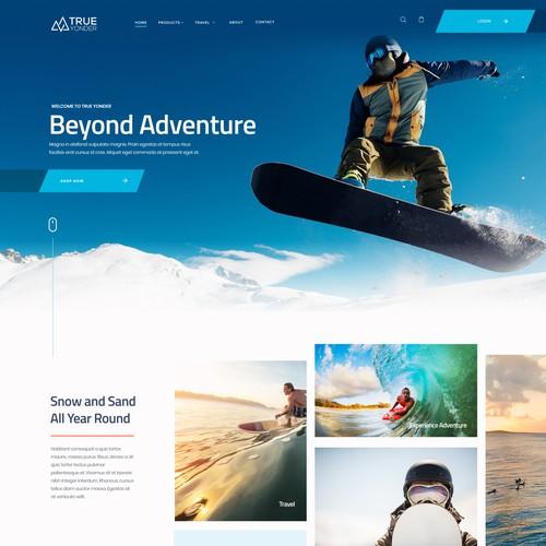 Design for Snow & Surf website